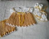 Honey Newborn 4 Piece Dress Set