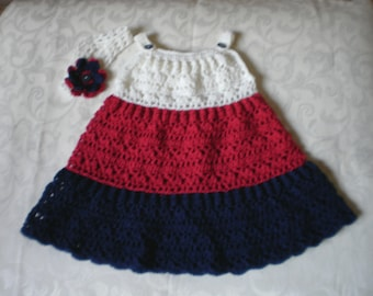 Red, White and Blue Dress and Headband Set