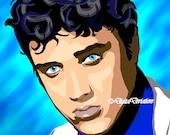 Pre-made Art Rendering Elvis 8X10 or 11x14 Digital Art the King