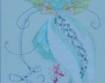 Nora Corbett Presents - The Linen Fairy #6 in The Stitching Fairies Series - Cross Stitch Chart