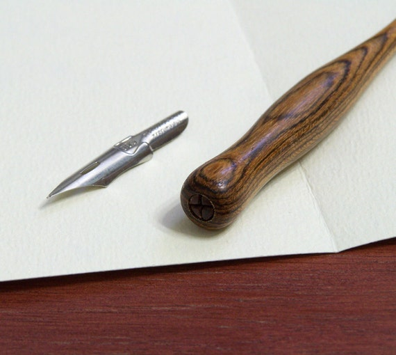 Hand Turned Wood Calligraphy Pen Dip Pen One Pen From