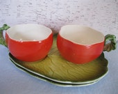 Holt Howard Tomato Soup Cups and Plates / Soup and Sandwich Set / Vintage
