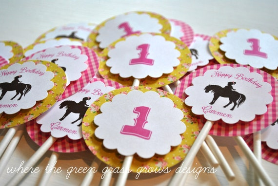 Pony Cupcake Toppers