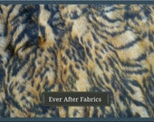 Bengal Print Faux Fur Craft Size