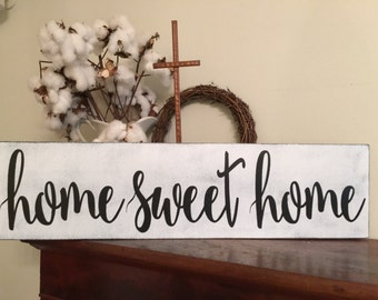 Home Sweet Homesign,Fixer Upper Inspired Signs,33x8.5, Rustic Wood Signs, Farmhouse Signs, Wall Décor