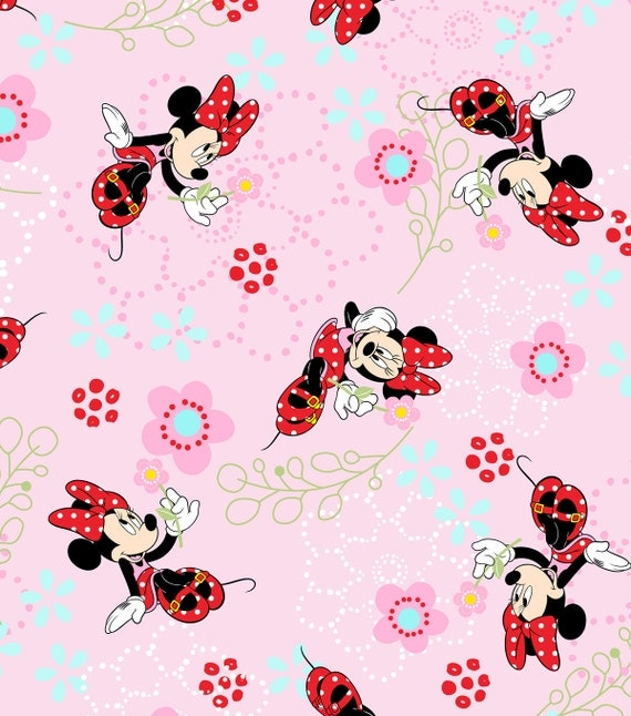 Minnie mouse disney fabric cute children 39 s disney for Kids character fabric