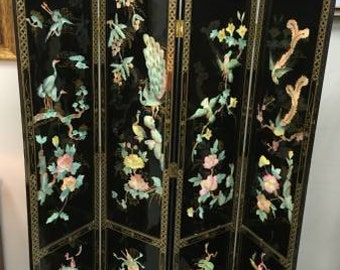 Screen / Room Divider with Mother of Pearl Inlay