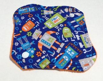 "Cloth Panty Liner  8"" Robots"