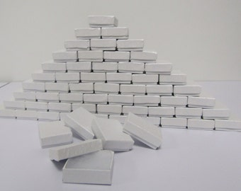 100 Pack White Boxes (2 x 1.5 x .75 in.) // ECONOMY SIZE //