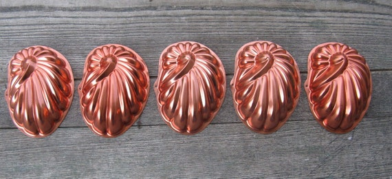 metal sea shell molds set of 5 copper tint aluminum weddings candles soap tart molds wall decor christmas crafts