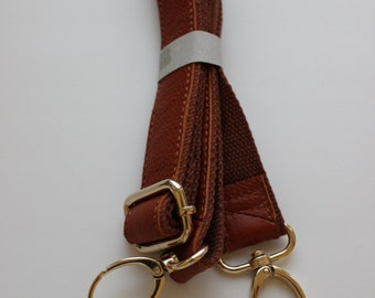 Genuine leather long handle for bag
