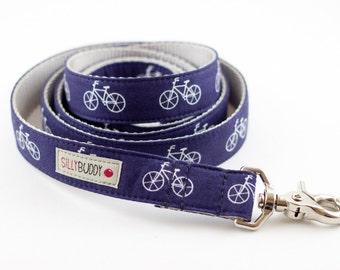 Bicycle Dog Leash in Indigo