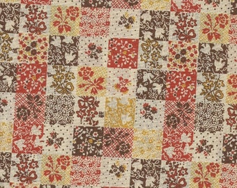 Vintage Patchwork Calico Fabric 1  yard