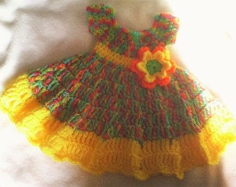 BRIGHT COLORS  DRESS Size 0 -3 mos