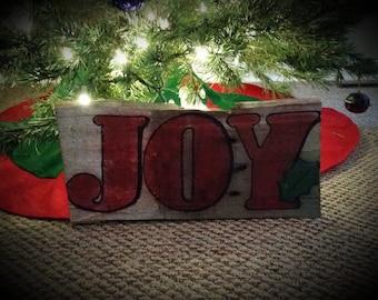 JOY - handmade wood sign
