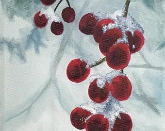 Snow Berries Painting