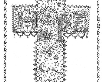 View CHRISTIAN COLORING PAGES by ChubbyMermaid on Etsy