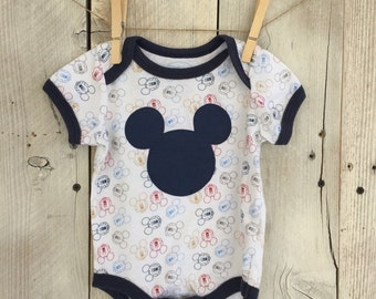 0-3 Months Bodysuit with Mickey Mouse Inspired Iron On