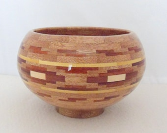 Wood Bowl Hand Crafted Segmented Wood Bowl Hand Made Wooden Anniversary Gift Wedding Gift Home Decor Original Design
