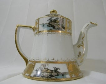Nippon Hand Painted Tea Pot