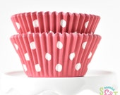 Dot Red BakeBright GREASEPROOF Baking Cups Cupcake Liners | ~30 count