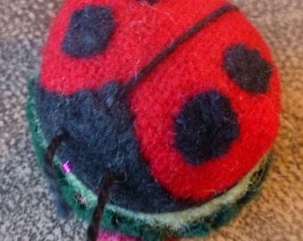 Hand Made Emery Filled Ladybug Pincushion
