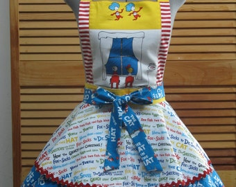 Thing 1, Thing 2 Inspired Cat in the Hat Party Apron