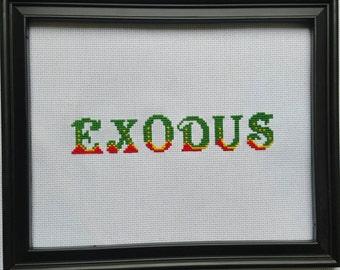 Bob Marley Rasta Exodus Custom Needlepoint with Throw Pillow Option