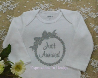 Baby Bodysuit, Just Arrived bodysuit,    baby outfit ,  bodysuit,  newborn ,   Coming home outfit  Onesie