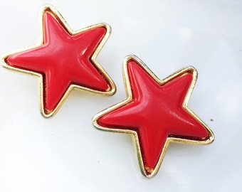 Red Star Spangled Earrings
