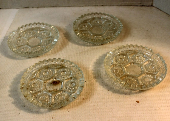 Vintage Glass Furniture Coasters Prevents Dents In By Luvredford