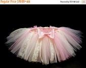 ON SALE Pink / Ivory Vintage Tutu- Tutu Skirt- Baby Tutu- Infant Tutu- Newborn Tutu- Tutus Baby Shower Gift- Available In Size  0-24 Months