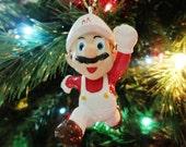 Nintendo Super Running Fireball Mario Brothers Tree Ornament 517