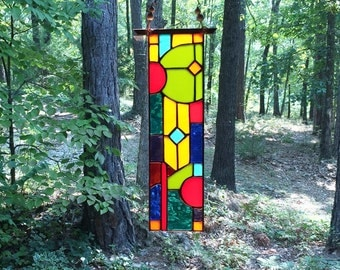 Stunning Stained Glass Panel Glass Art gift home decor suncatcher art glass home and living