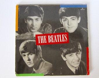 The Beatles Calendar Beatles Picture Collectible Beatles Vintage Beatles Fab Four Rock N Roll Early Beatles Vintage Calendar A20