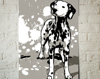 Dalmatian, Dog, Art Print, Pop Art, Pet Decor, Poster sized Dog Decor, Dog Nursery decor, Pet Portrait, Gift for Pet Lover, Gift under 25