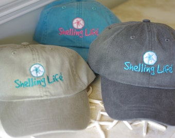 Beach Shelling Life Hat - Embroidered Hat - Shelling Life Hat