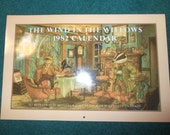 80s The Wind in the Willows Oversized Calendar 1982