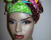 African head wrap fabric, Head Scarf Fabric, Extra Long/ DIY Head Wrap fabric/ African head wraps/ African hair accessory fabric