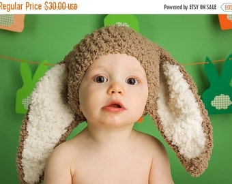 BLACK FRIDAY 2T to 4T Kids Bunny Hat, Toddler Hat, Bunny Ears Photo Prop, Animal Hat, Childrens Hat, Crochet Easter Bunny Beanie Kids Hat