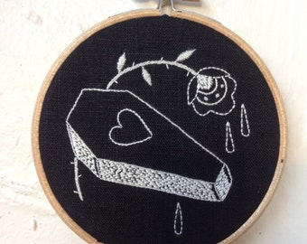 Rachel Welsby - Rose & Coffin Embroidery