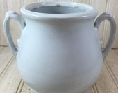 Vintage C & A Meakin Shabby Chic Ironstone Lidless Sugar Pot