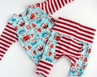 Christmas Baby Outfit, Consolidation Sale,  Baby Coming Home Outfit, Gender Neutral Baby Clothes, Fits 0 - 3 months, Handmade, Ready to Shi