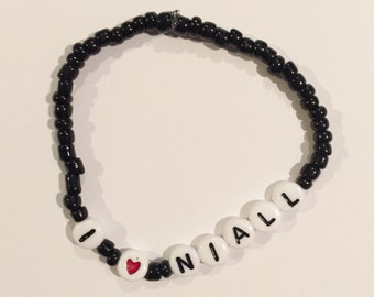 Choose Your Color! I HEART NIALL Beaded Bracelet