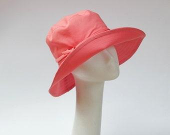 Summer Hat Wide Brim Coral