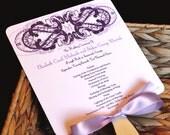 Vintage Eggplant Wedding Fan Program *Limited time pricing*