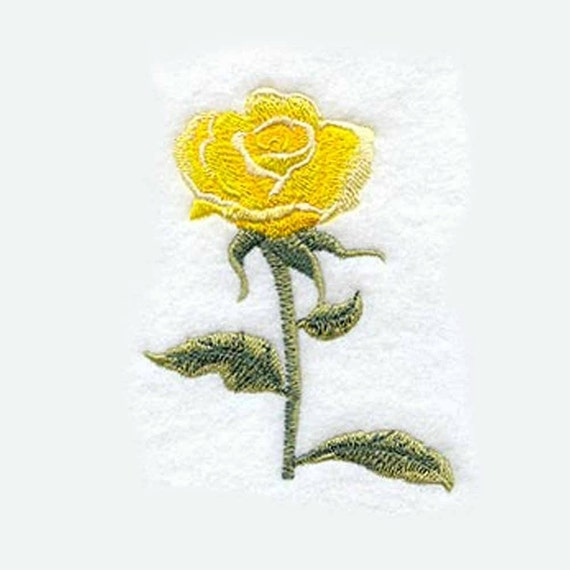 Rose Embroidered Towels: Yellow Rose Of Texas Tea Towel Embroidered Kitchen Towel