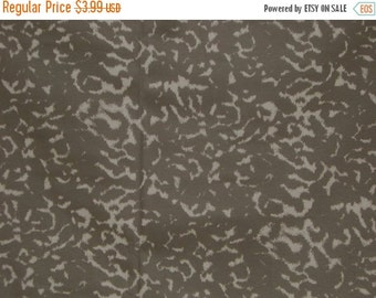 ON SALE SPECIAL--Cocoa and Cafe au Lait Abstracted Animal Print Stretch Cotton Fabric--One Yard