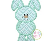 """Bunny 3 Applique Design size(s): 4x4, 5x7 & 6x10, Shown with our """"Beneath your Beautiful"""" Font NOT Included, Instant Downloads"""