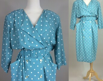80s polkadot dress